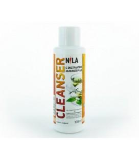 Жидкость для снятия липкого слоя Nila Cleanser (зеленый чай) 100 мл