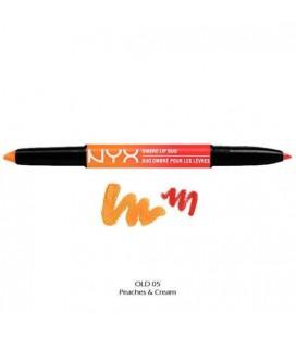 NYX Карандаш-помада 2 в 1 Ombre Lip Duo №05 (Peaches&Cream) 0,45*0,14 г