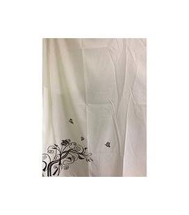 Пеньюар Proline серый/белый с узором