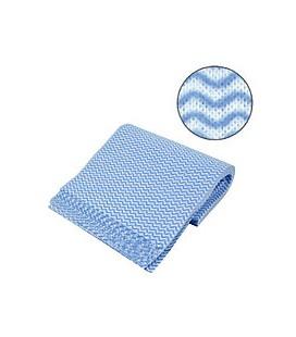 Одноразовые салфетки сетка Fortius Pro 25х30 100 шт (голубая волна)