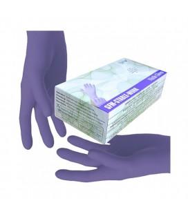 Перчатки нитриловые фиолет без пудры SFM размер XS (особо чувствительные) 100 шт