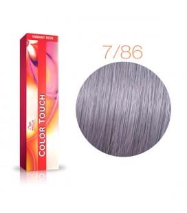 Краска для волос 7/86 Wella Color Touch Средний блондин жемчужно-фиолетовый 60 мл