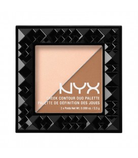 NYX Палетка д/коррекции цвета лица Cheek contour Duo Palette №01  (cheek on cheek) 2*2,5 г