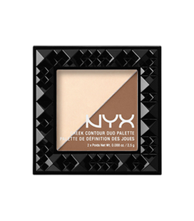 NYX Палетка д/коррекции цвета лица Cheek contour Duo Palette №02  (double date) 2*2,5 г