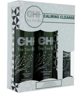 Набор для волос Чайное дерево CHI Tea Tree Oil Calming Cleanse Trio