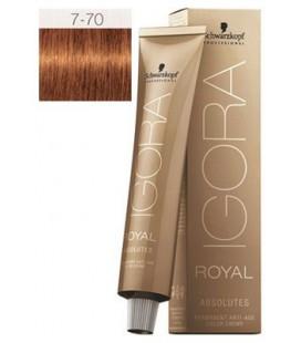 Краска для седых волос 7-70 Igora Royal Absolutes Средне-Русый Медный Натуральный 60 мл