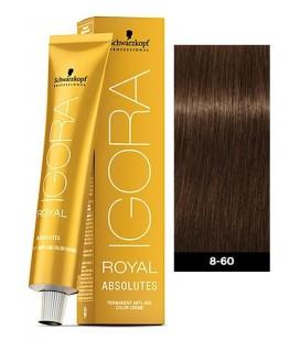 Краска для волос 8-60 Schwarzkopf Igora Royal Absolutes Светло-русый шоколадный натуральный 60 мл