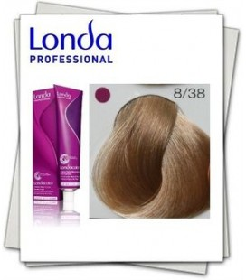 Краска для волос 8/38 Londa Professional Светлый блондин золотисто жемчужный  60 мл