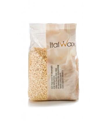 Горячий пленочный воск в гранулах Белый Шоколад ItalWax 500 г