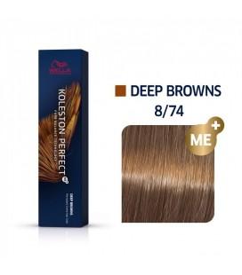 Краска для волос 8/74 Wella Koleston ME+ Светлый блондин коричнево-красный 60 мл