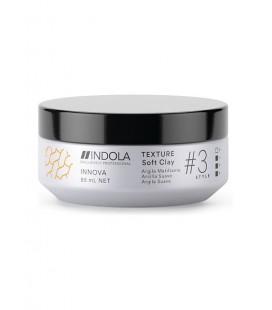 Глина для волос легкой фиксации Indola Innova Texture Soft Clay 85 мл