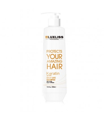 Шампунь с кератином LuxLiss Keratin Smoothing Daily Shampoo 500 мл