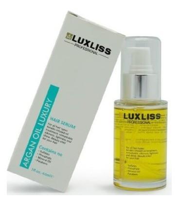 Кератиновая сыворотка с аргановым маслом Luxliss Argan oil hair serum 60 мл