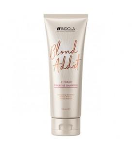 Шампунь с розовым оттенком для блондинок Indola Blond Addict PinkRose Shampoo 250 мл