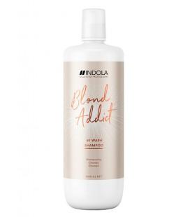 Шампунь для всех типов волос блонд Indola Blond Addict Wash Shampoo 1000 мл