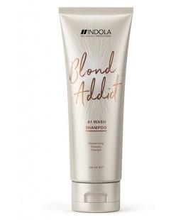 Шампунь для всех типов волос блонд Indola Blond Addict Wash Shampoo 300 мл