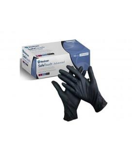 Перчатки нитриловые без пудры черные Medicom размер S 100 шт (1187-В)
