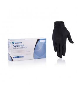 Перчатки нитриловые без пудры черные Medicom размер M 100 шт (1187-С)