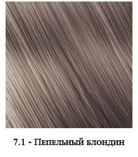 Крем-краска для мужчин Nouvelle Simply Man Color Cream №7.1 (пепельный блондин) 40+40 мл
